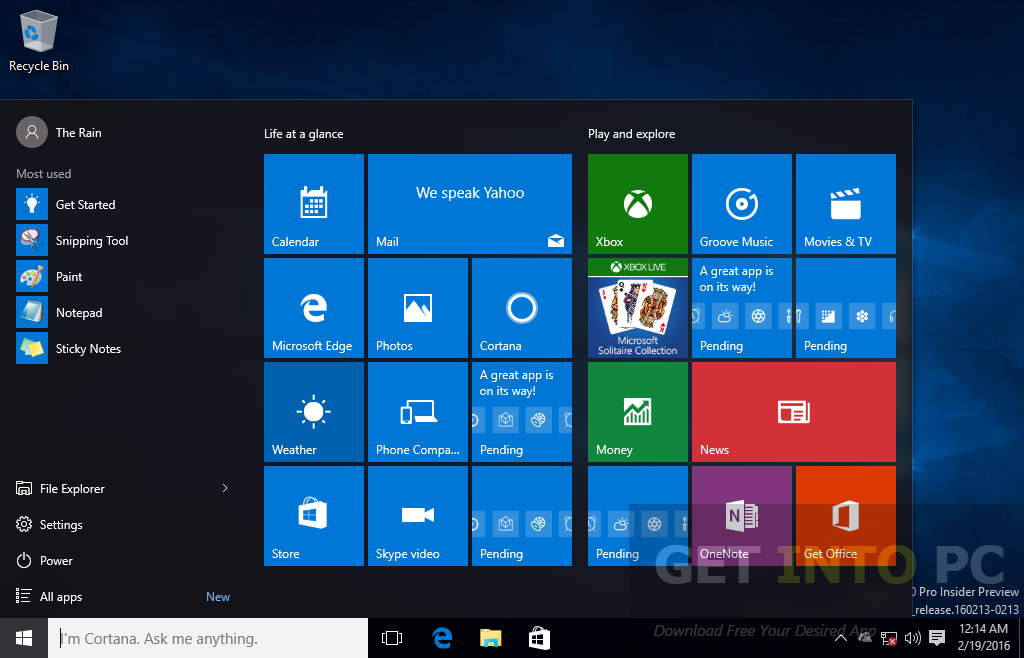Windows 10 Redstone 14267 Pro ISO Offline Installer Download