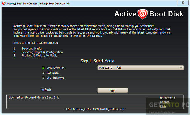 Active Boot Disk Suite 10.5.0 Offline Installer Download
