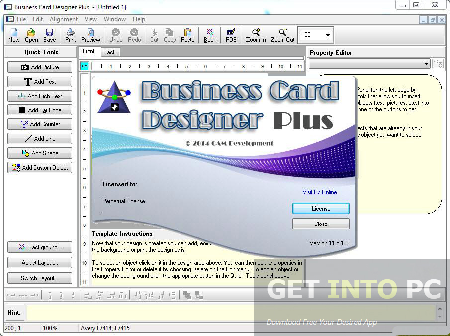 Business card designer plus portable free download fbccfo Images