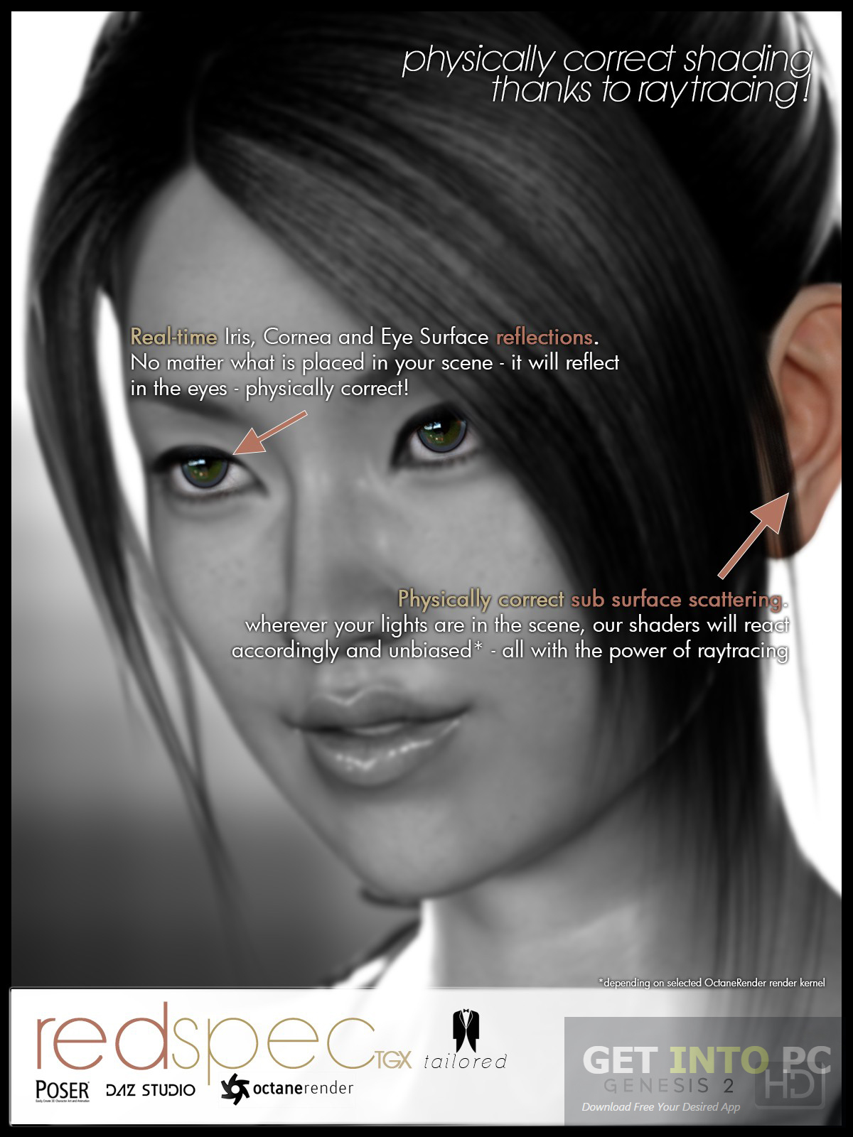 DAZ3D Poser RedSpec TGX Tailored Octan Shaders Direct Link Download