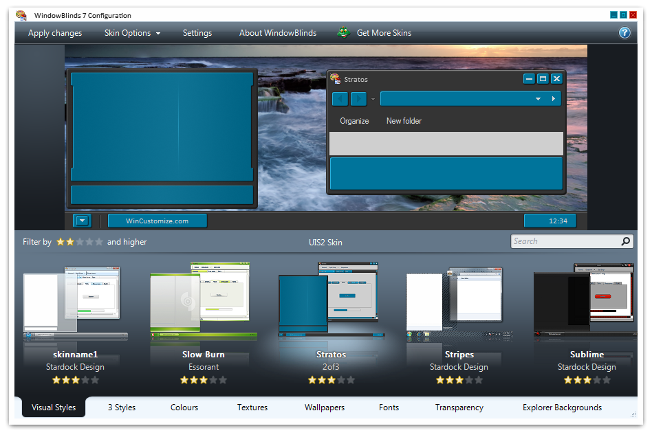 Stardock WindowBlinds for windows All theme Collection