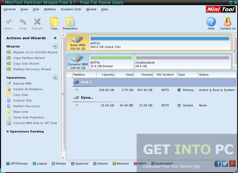 MiniTool Partition Wizard Technician 9 1 Bootable ISO Download