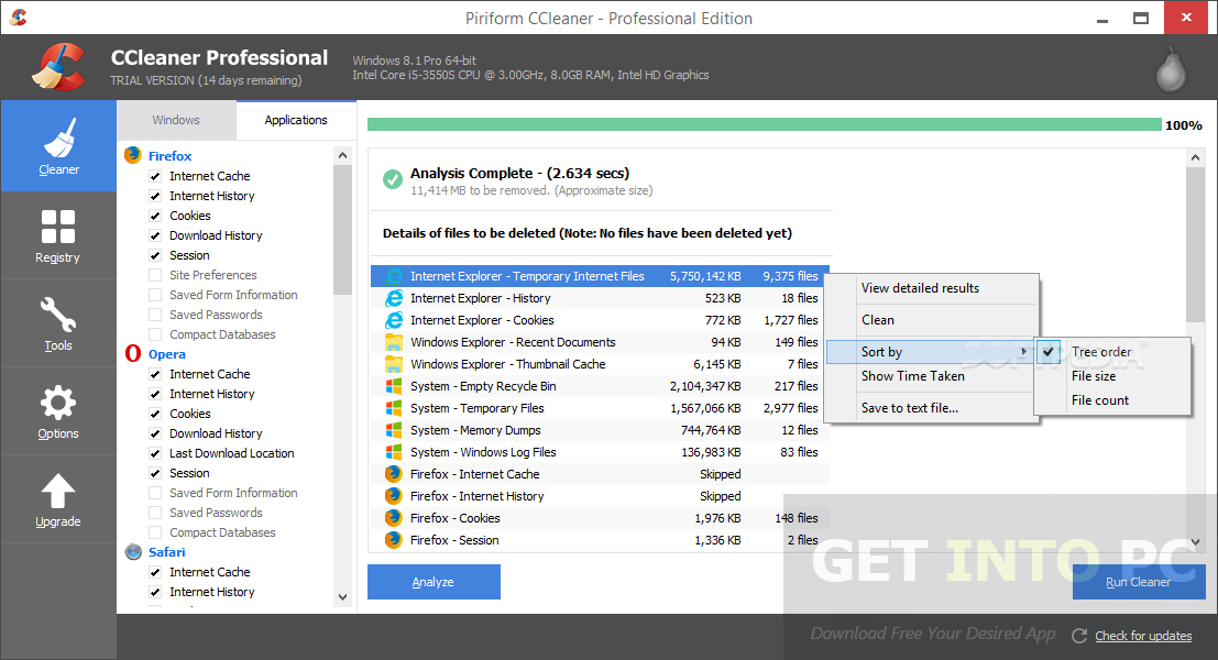 CCleaner Professional 5.19.5633 Portable Direct Link Download