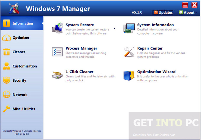 Yamicsoft Windows 7 Manager Portable Direct Link Download