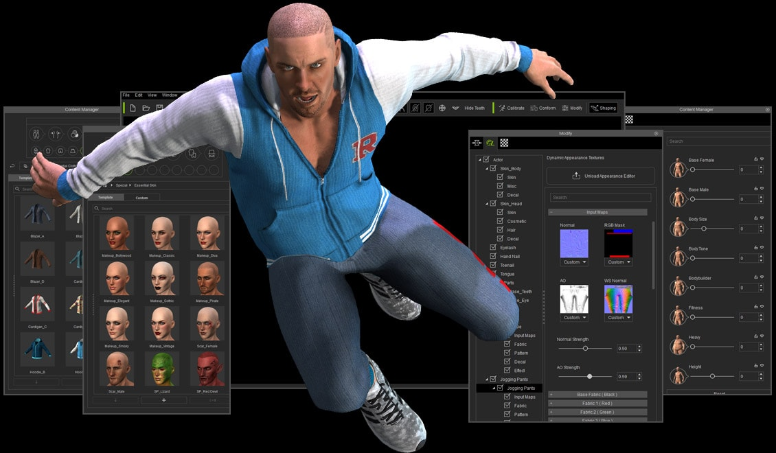 Free 3d Character Design Software Download : Reallusion iclone character creator with content pack free