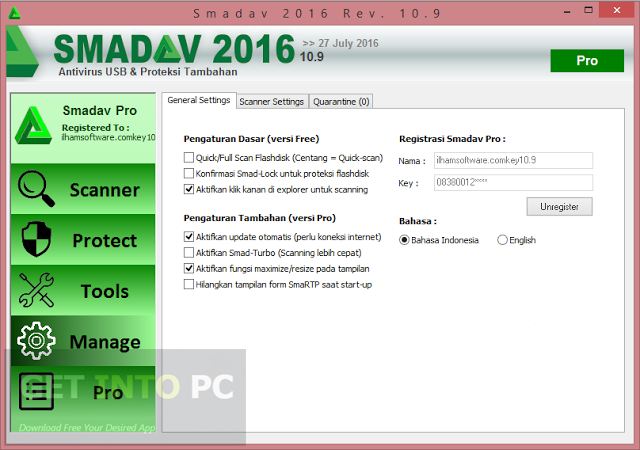 Smadav Pro 10.9 2016 Setup Free Download
