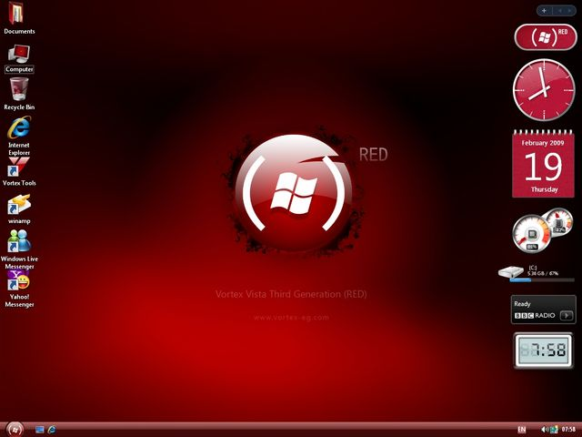 Windows XP Vortex 3G Red Edition ISO Offline Installer Download