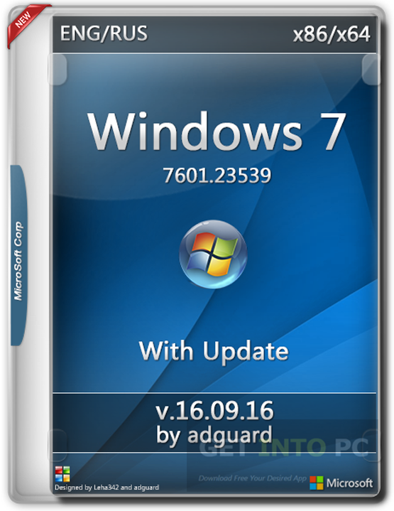 Windows 7 SP1 AIO ISO x64 Sep 2016 Free Download