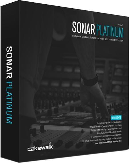 Cakewalk SONAR Platinum 22.8.0.29 With Plugins Free Download