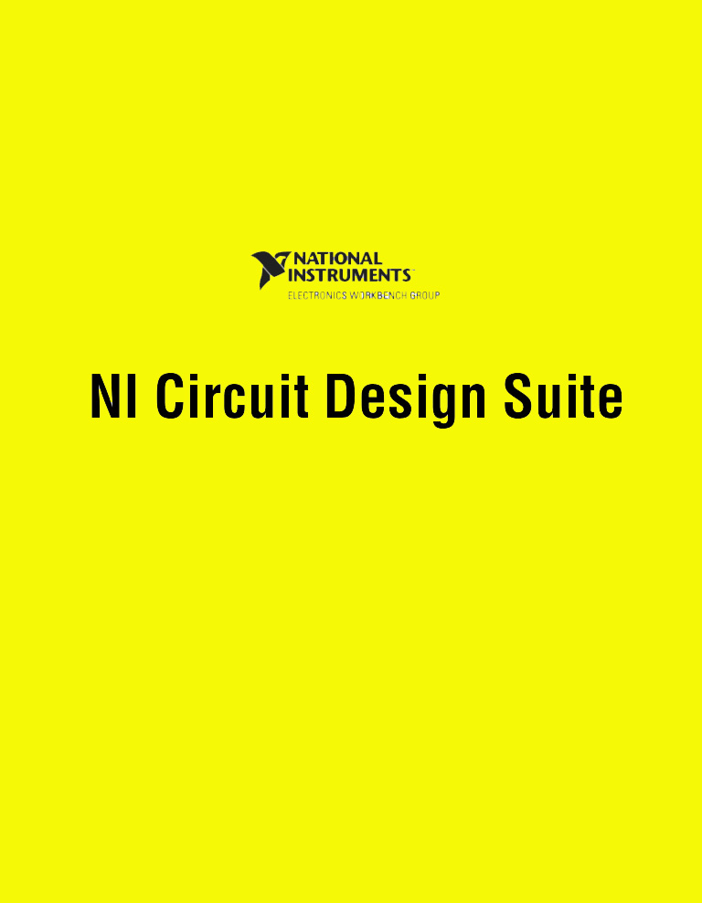 NI Multisim Ultiboard Electronics Circuit Design Suite 14 Free Download