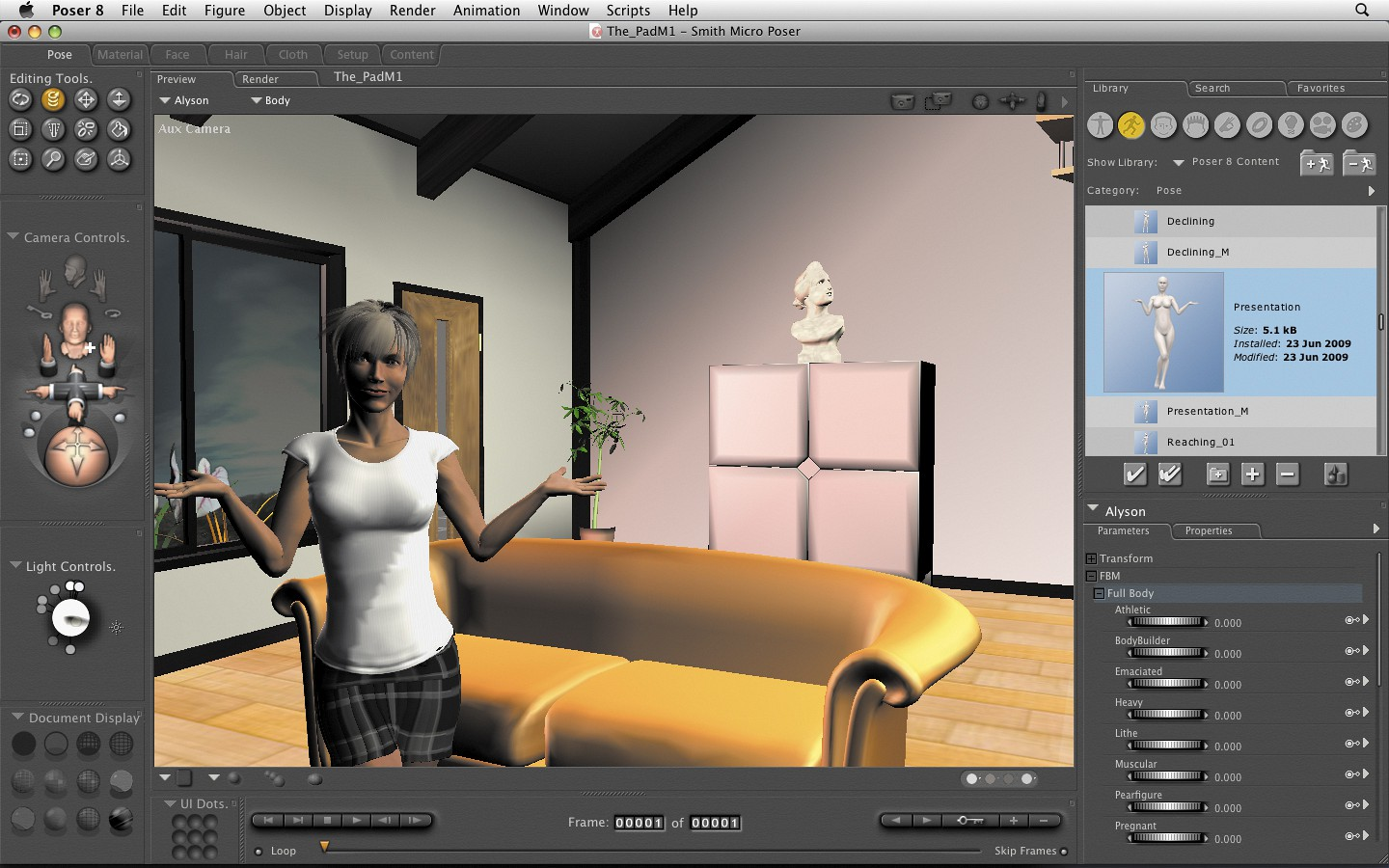 Poser 3D Character Art and Animation Software