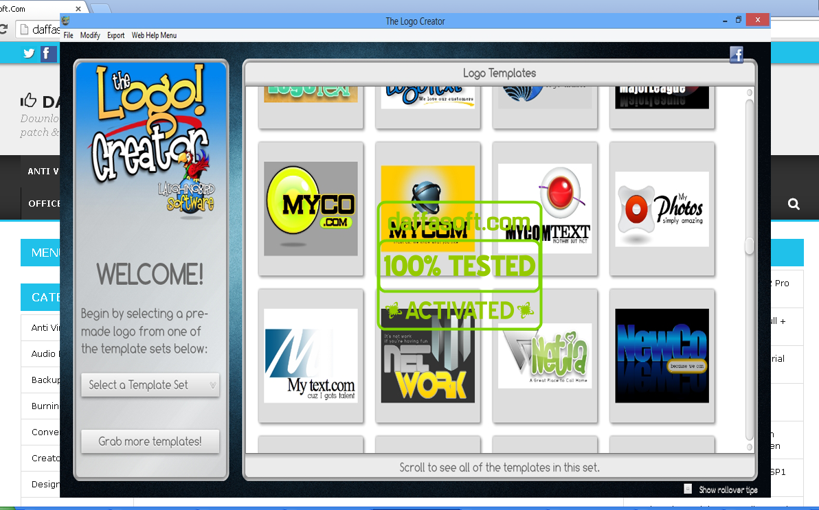 The logo creator 5 1 mega pack for windows for New windows software