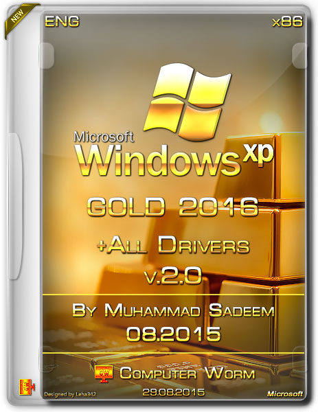 Windows XP Gold Edition SP3 2016 With Drivers Free Download