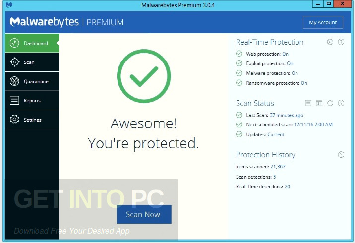 Malwarebytes Premium v3.0.5.1299 Direct Link Download