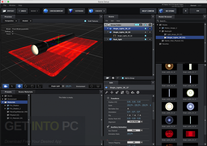 Video Copilot Element 3D 2.2.2 CE + 3D Packs + Pixel Lab Material Pack Latest Version Download
