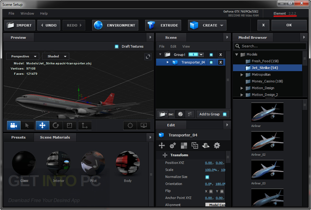 Video Copilot Element 3D 2.2.2 CE + 3D Packs + Pixel Lab Material Pack Offline Installer Download