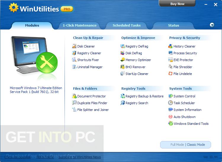 WinUtilities Professional Edition 13 Offline Installer Download