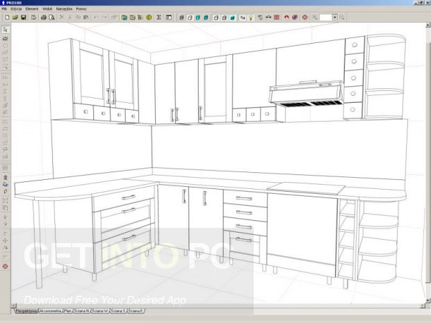 Kitchen furniture and interior design software free download for Kitchen setups interior