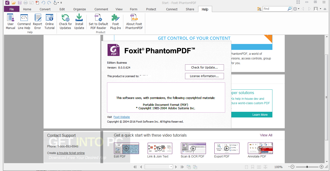 Foxit PhantomPDF Business 8 ISO Direct Link Download