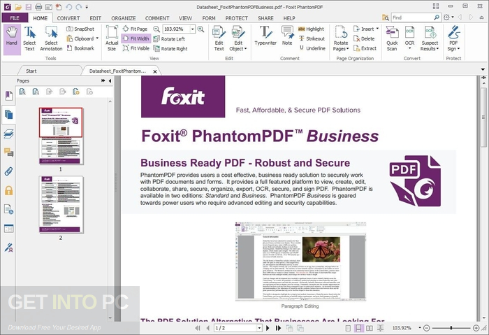 Foxit PhantomPDF Business 8 ISO Setup Free Download