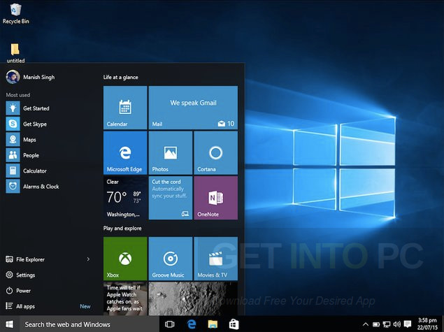Windows 10 Gamer Edition Pro Lite ISO Features