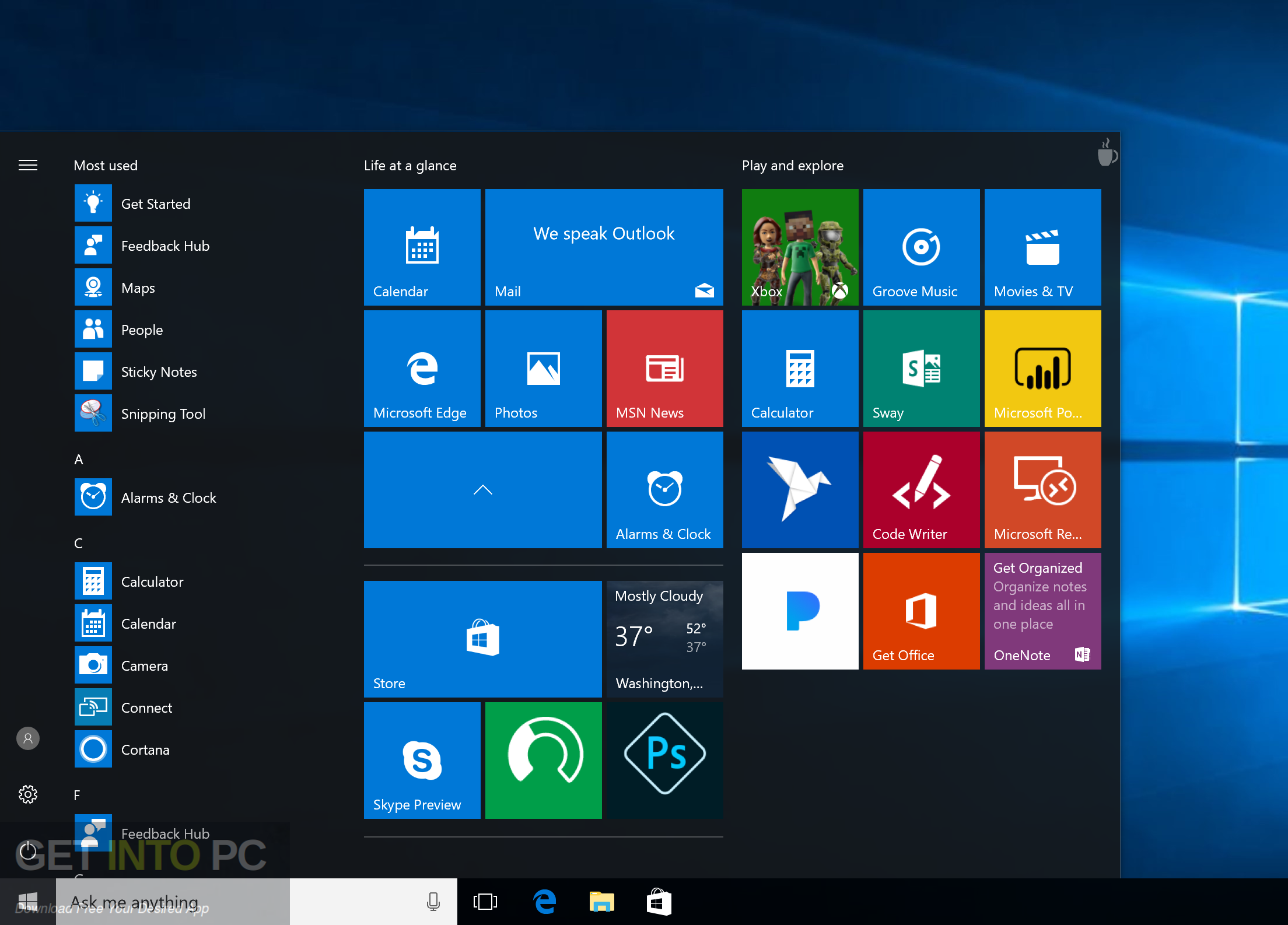 Windows 10 Enterprise Creators Update x64 ISO Latest Version Download
