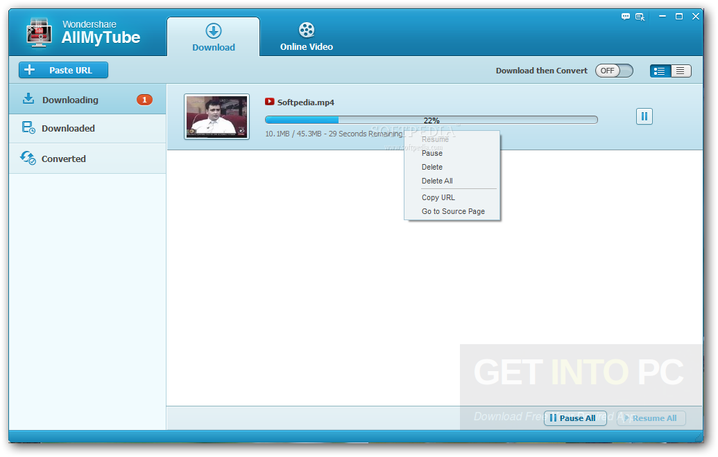 Wondershare AllMyTube Offline Installer Download