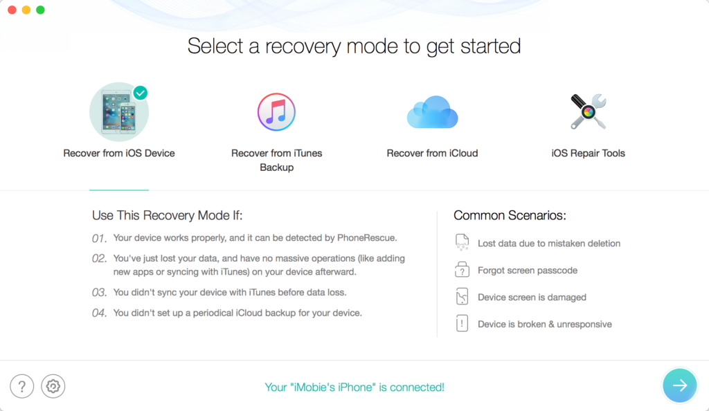 recovery method for ios