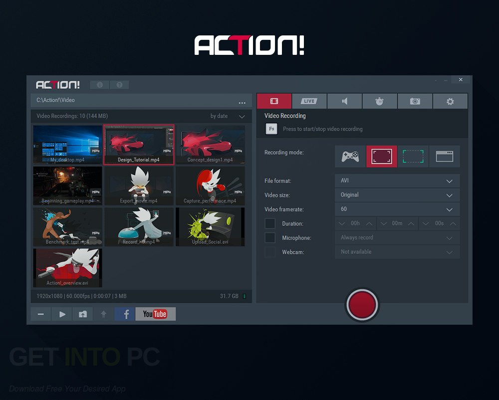 Action game recorder serial key