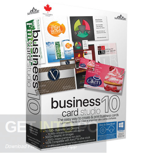 Summitsoft Business Card Studio Deluxe Free Download