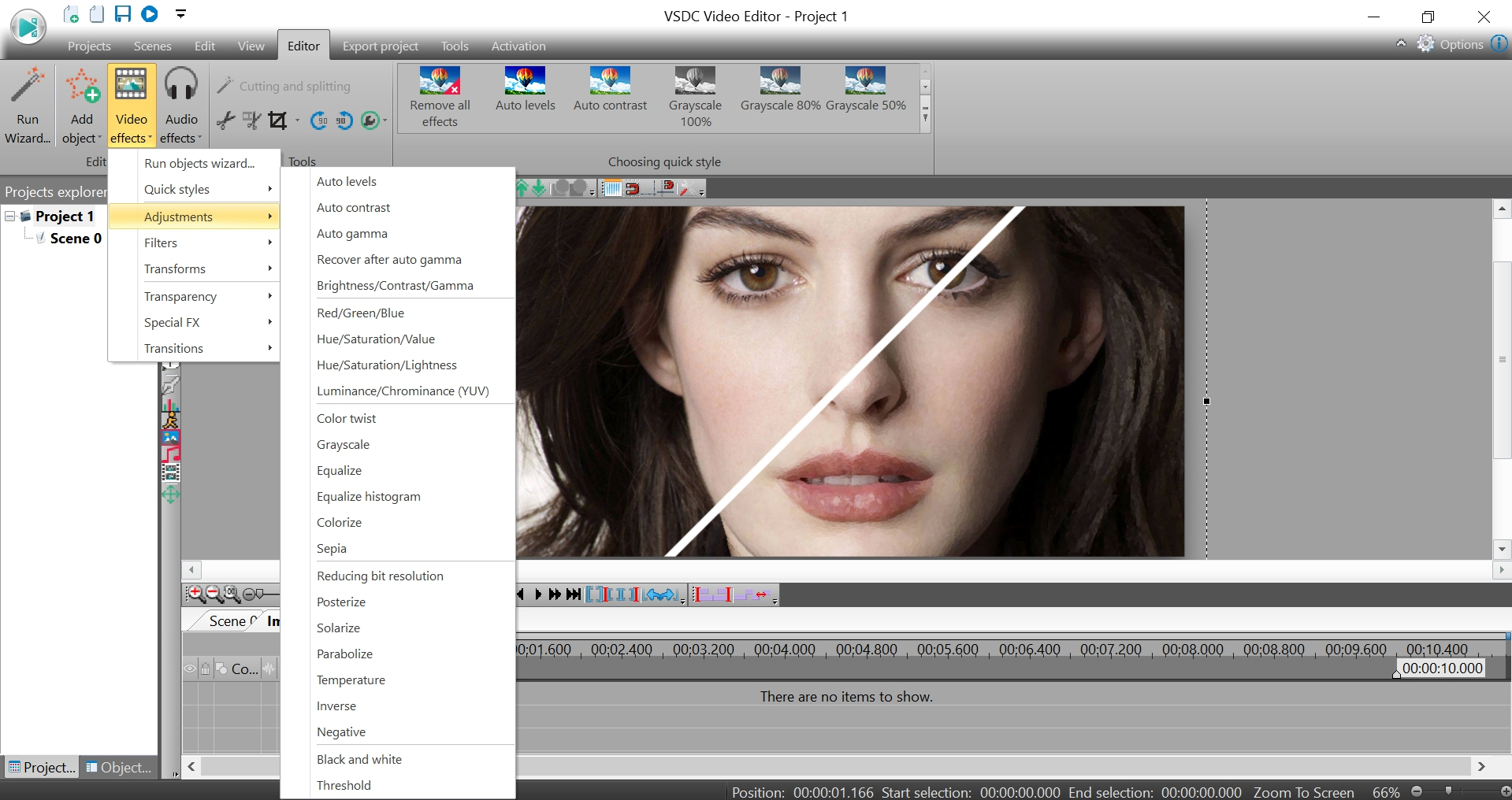 vsdc free video editor how to cut video