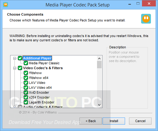 Media Player Codec Pack 4.4.5.707 Latest Version Download