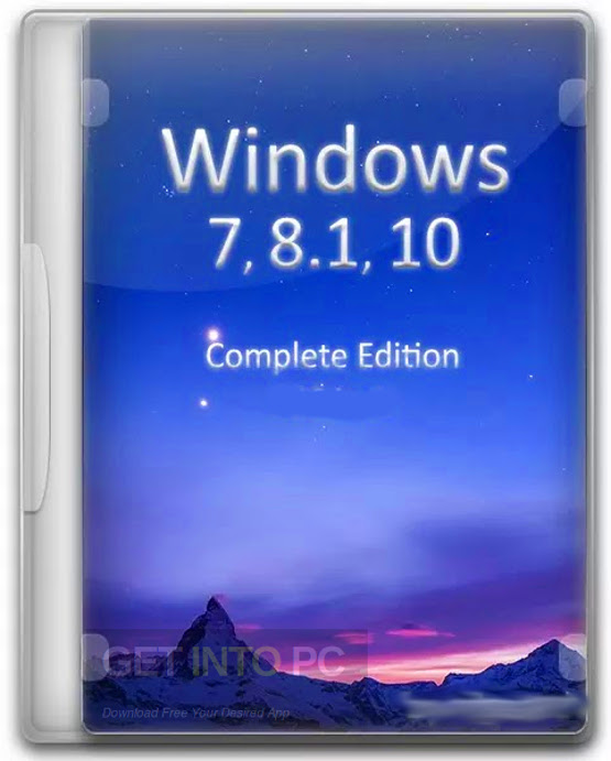 Windows 7-8.1 10 AIO (44in1) x64 ISO July 2017 Download