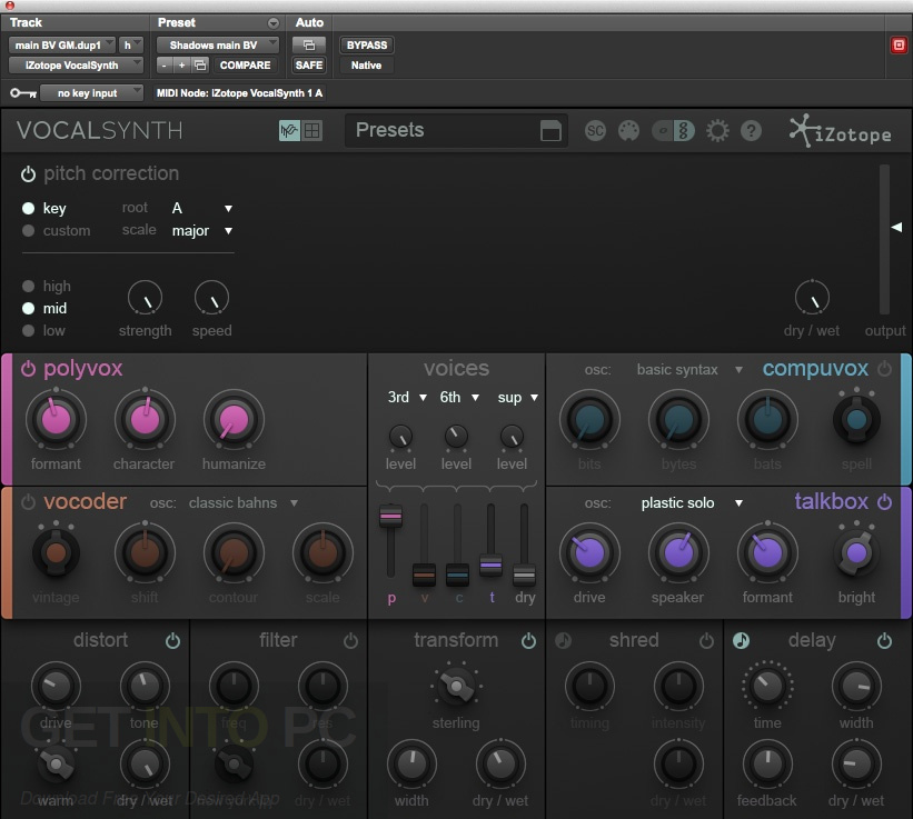 iZotope VocalSynth Latest Version Download