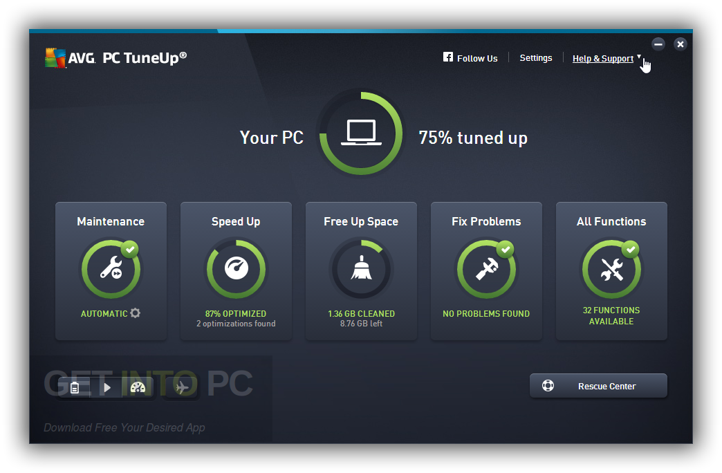 AVG PC TuneUp 2017 Direct Link Download