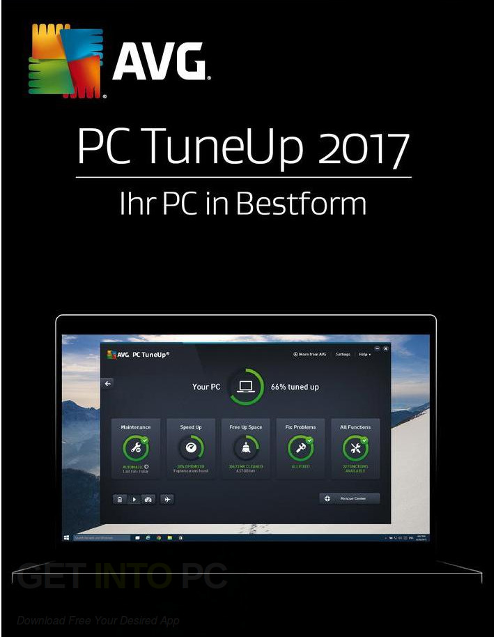 AVG PC TuneUp 2017 Free Download