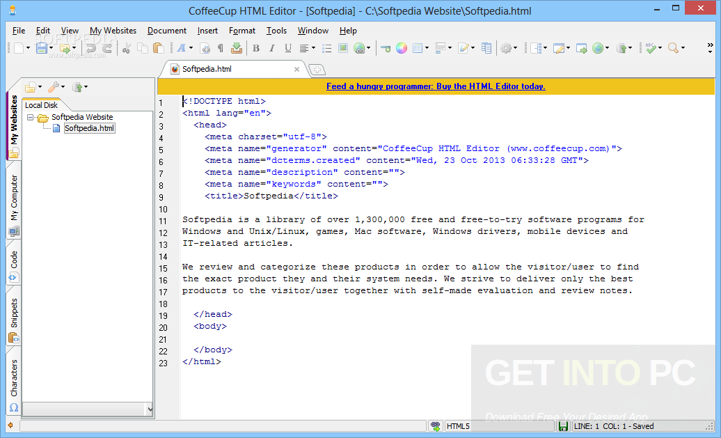 CoffeeCup HTML Editor Latest Version Download