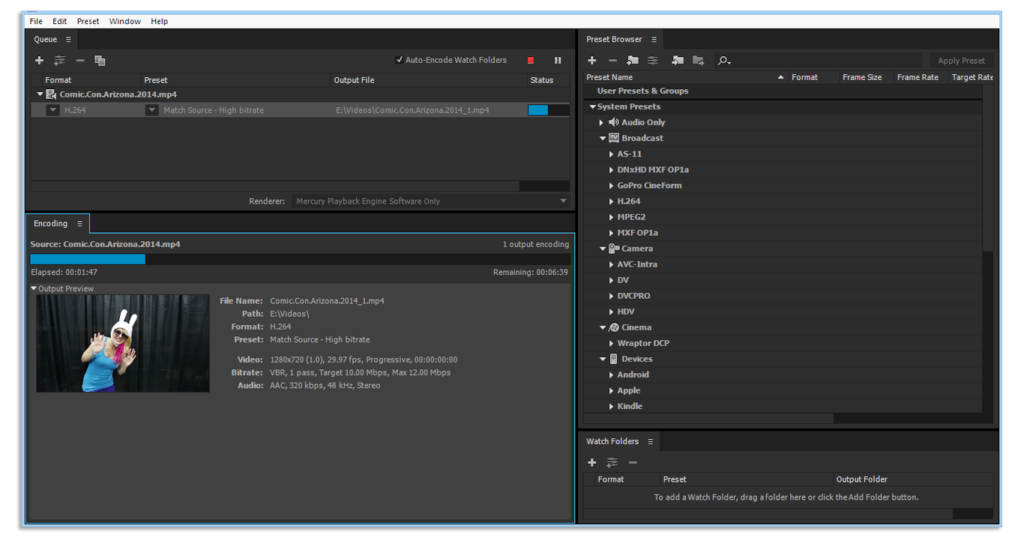 Adobe Media Encoder CC 2018 Latest Version Download