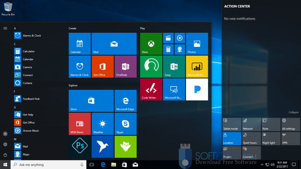 Windows 10 All in One RS3 v1709 x64 16299.19 Direct Link Download