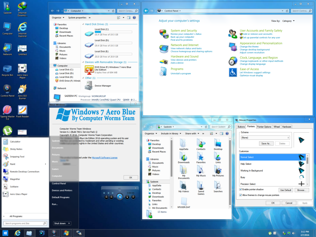 Windows 7 aero blue lite edition 2016 32 bit free download for Latest windows version