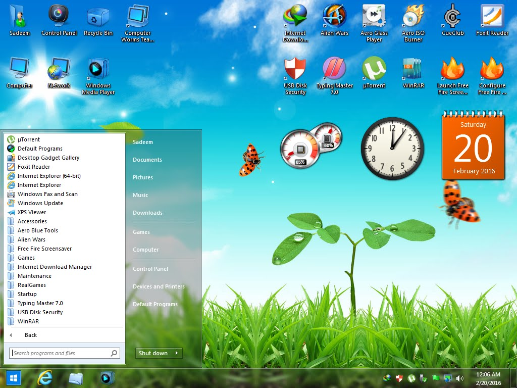 Windows 7 Aero Blue Lite Edition 2016 Offline Installer Download