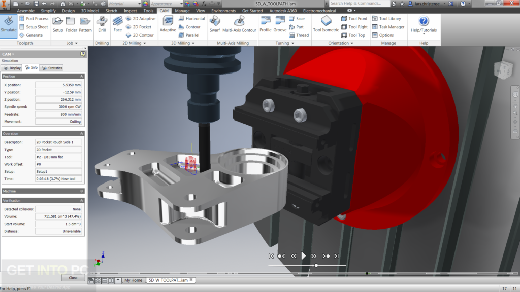 Autodesk Inventor HSM 2018 x64 Free Download