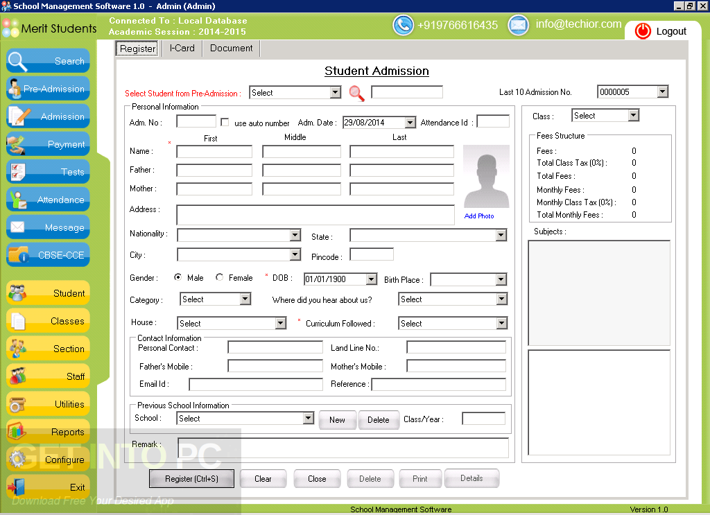 School Management Software Offline Installer Download