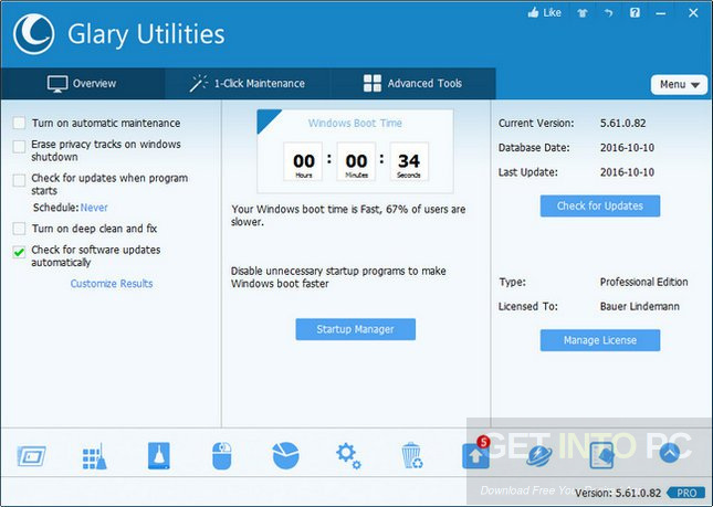 Glary Utilities Pro 5.90.0.111 + Portable Offline Installer Download