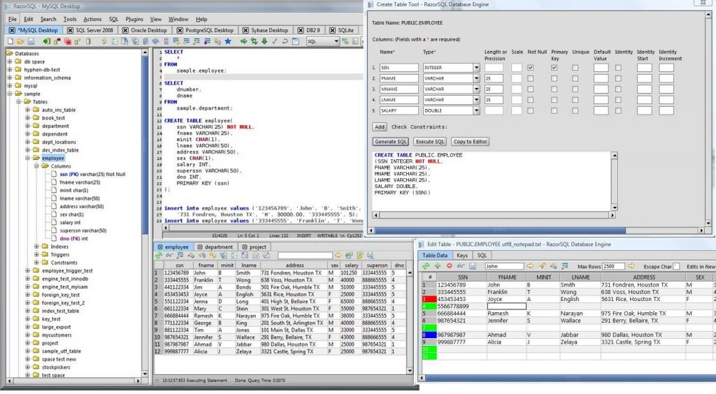Richardson Software RazorSQL 7.4 Latest Version Download
