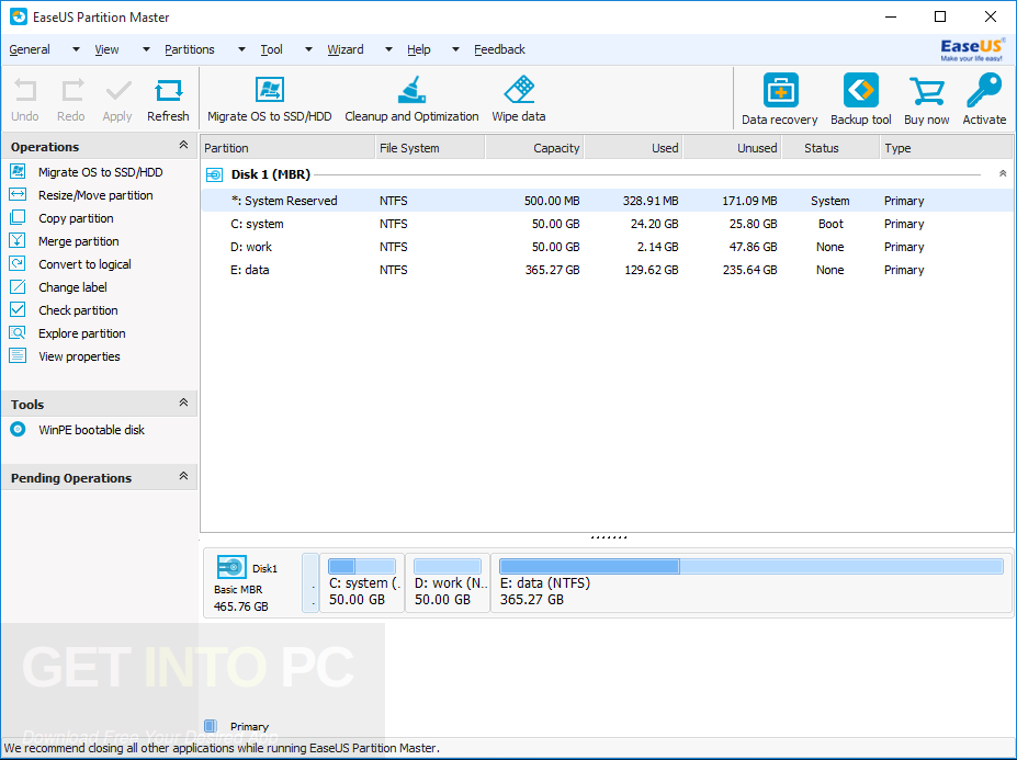 easeus partition master 12.5