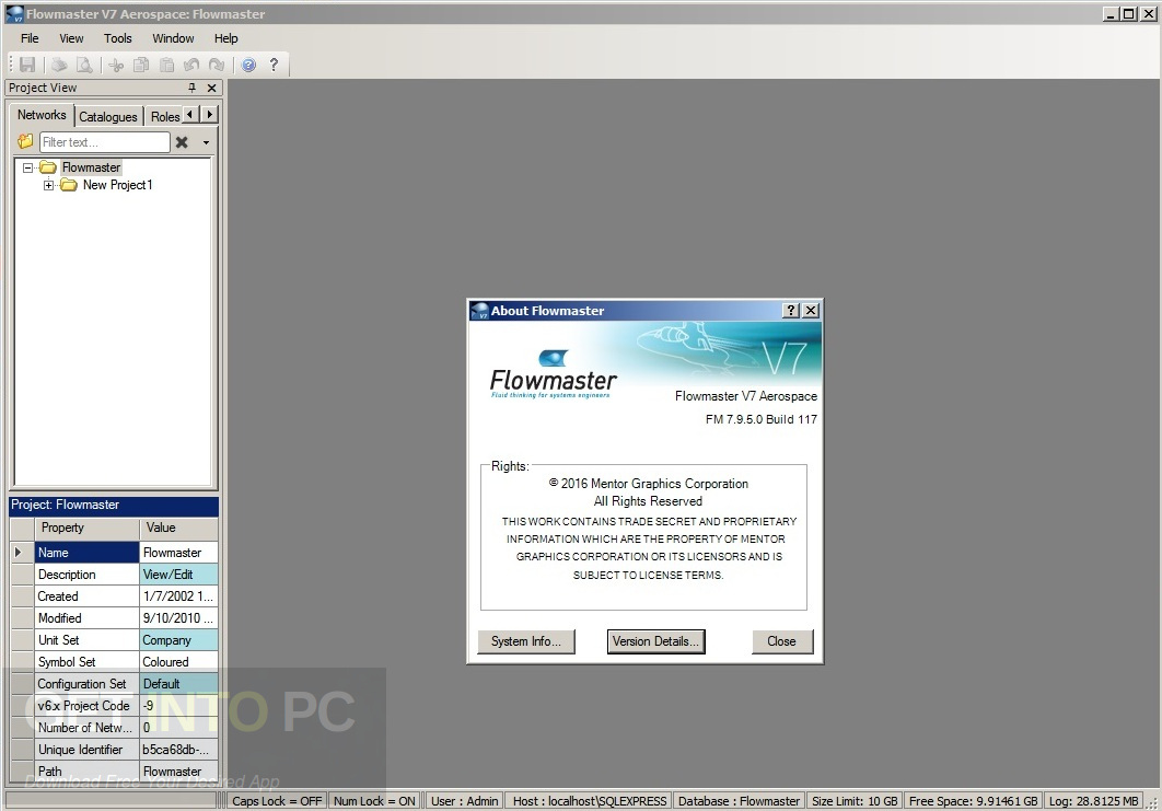 Mentor Graphics Flowmaster (FloMASTER) 7.9.5 Offline Installer Download