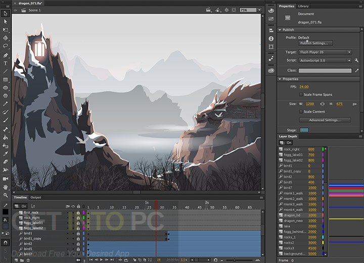 Adobe Animate CC 2018 Portable Direct Link Download