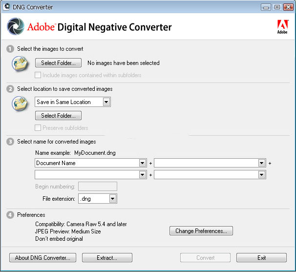 Adobe DNG Converter 10.2 Latest Version Download