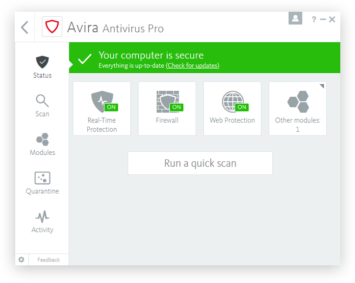 Avira Antivirus Pro 2017 Latest Version DOwnload